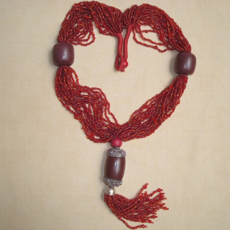 Multi Strand Red Necklace
